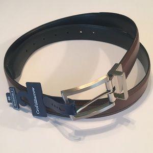 """Croft&Barrows Black/Brown Reversible 40"""" Belt NWT"""